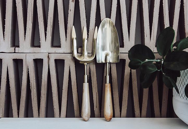 Brass gardening tools