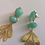 Thumbnail: Turquoise Jade She's Gold Earrings