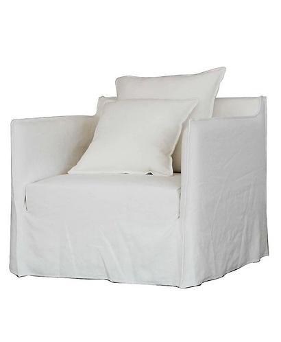 Casper linen slip cover armchair