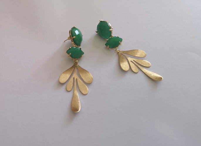 Green She's Gold Earrings