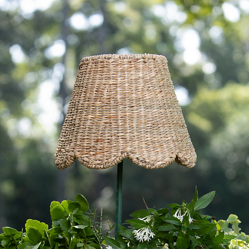 Small Scalloped Seagrass Lampshade