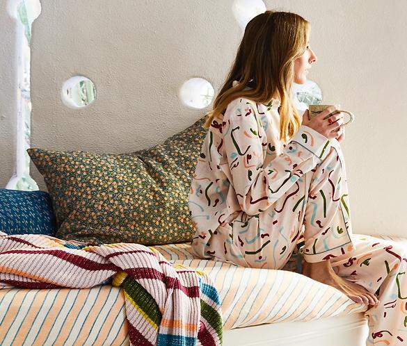 Sage & Clare Anouk linen pillowcase - Pickle