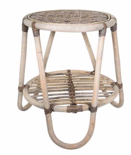 Rattan Veranda Side Table - Natural