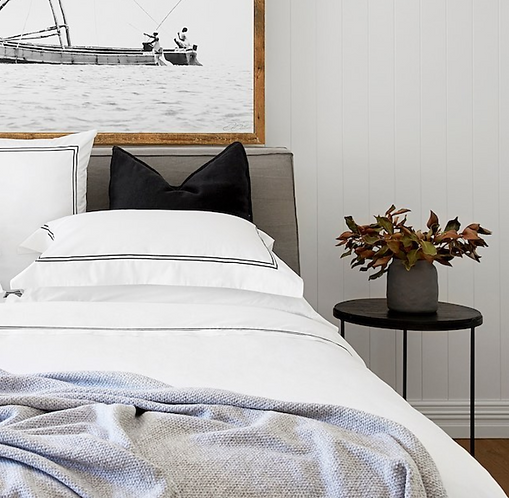 Classique Tailored Standard Pillow Case Set - Ebony