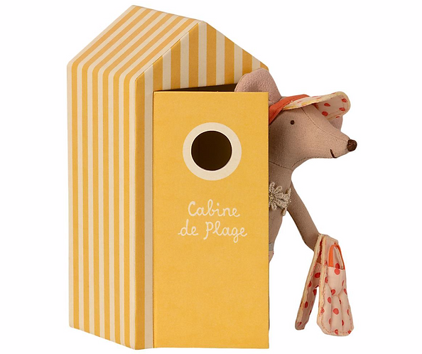 Maileg Beach Big Sister Mouse with Cabin