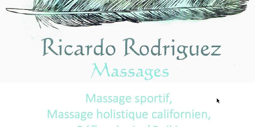 Réservation massage avec Ricardo