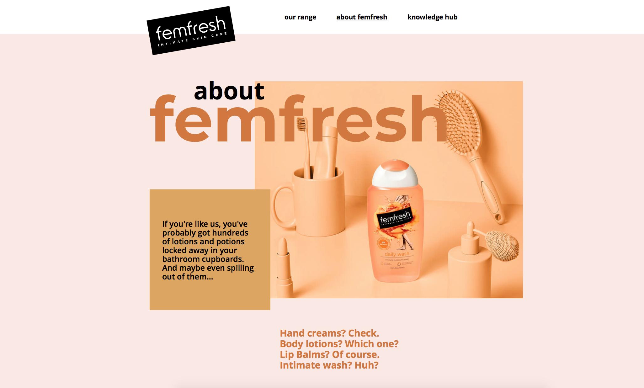 about femfresh web page