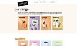 femfresh range web page