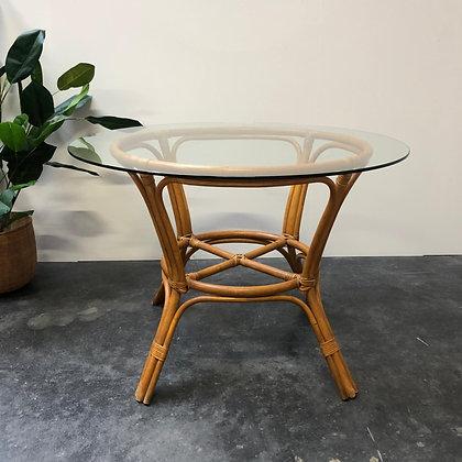 Table en verre/bambou - C223