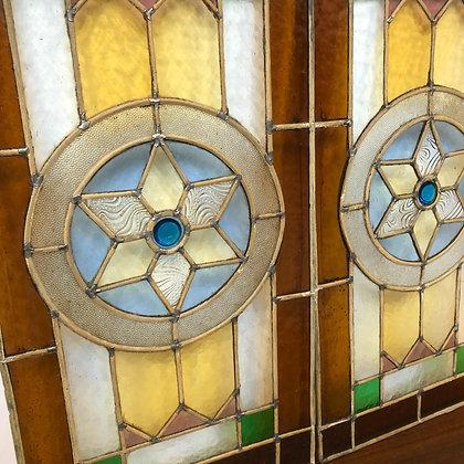Paire de vitraux de fenêtre - C219