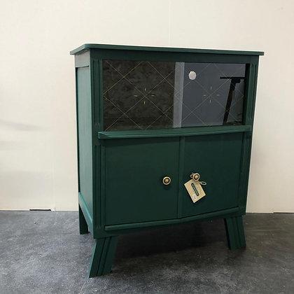 Petit meuble bas en bois peint - C224