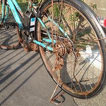 エイジング塗装・自転車