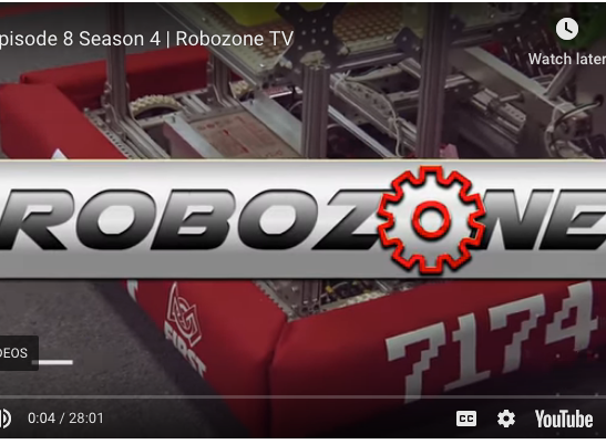 RoboZone used our robot for their introduction and lead-in and lead-out to commercials throughout the 2018 season