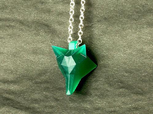 Geo Fox Head Pendant. 3D Printed in Biodegradable PLA