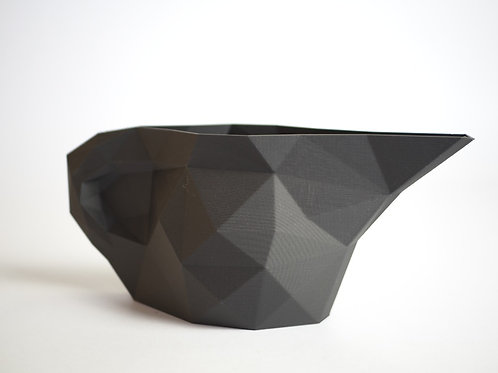 Geometric watering can in recycled biodegradable PLA