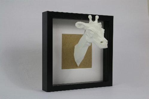 Geometric Giraffe. 3D printed and framed. recycled PLA.