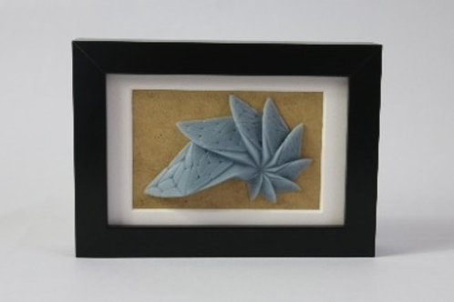 Geometric Relief Artwork. 3D printed and framed. Biodegradable resin PLA.