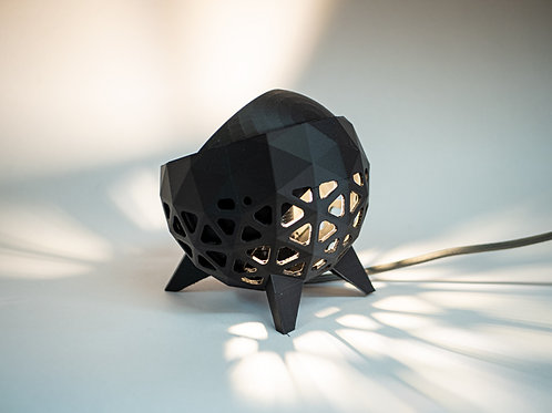 Geometric Table Lamp. 3D printed from recycled PLA.