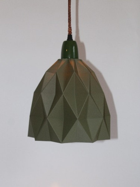 Geometric Lampshade. 3D printed in recycled PLA.