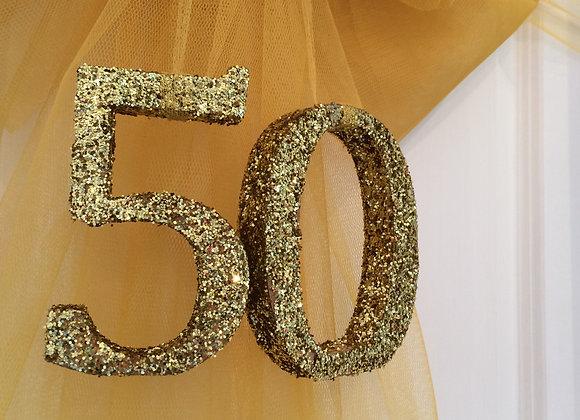 Glitter Numbers for Door Bows - UK Essex Kent London Door your door for Christmas