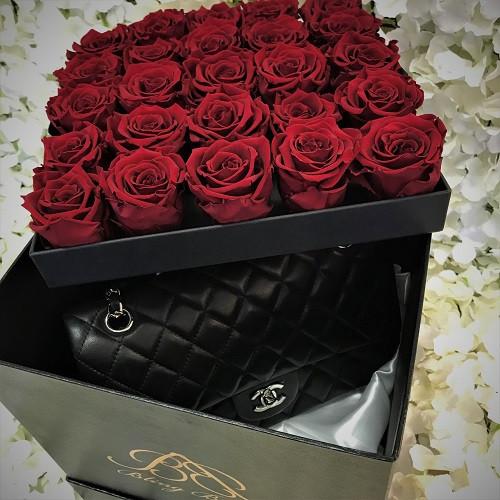 Roses That Last A Year In Christmas Hamper Bo Uk Es London Kent