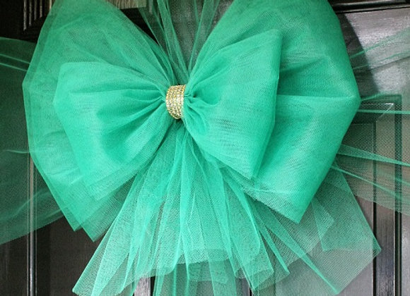 Christmas Door Bow, Green Door Bow, Dress your door in style this festive season - UK, Essex, Kent London