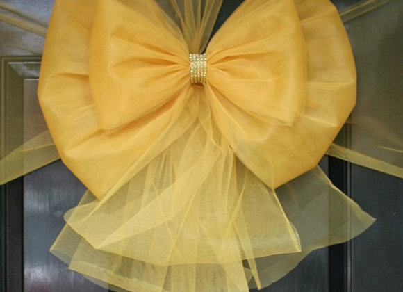 Christmas Door Bow, Gold Door Bow Gold Diamante centre, Dress your door in style this festive season - UK, Essex, Kent London