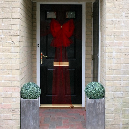 Christmas Door Bow Red Diamante Dress Your In Style This Festive Season