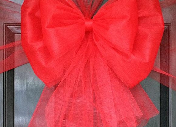 Christmas Door Bow, Red, Dress your door in style this festive season - UK, Essex, Kent London