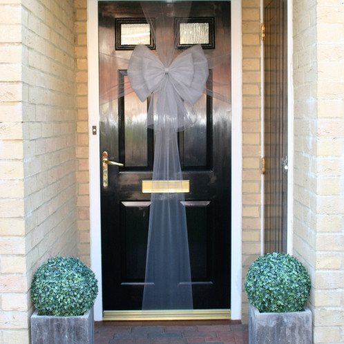 Christmas Door Bow Silver Dress Your In Style This Festive Season