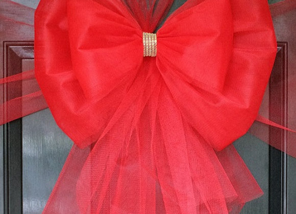 Christmas Door Bow, Red & Diamante, Dress your door in style this festive season - UK, Essex, Kent London