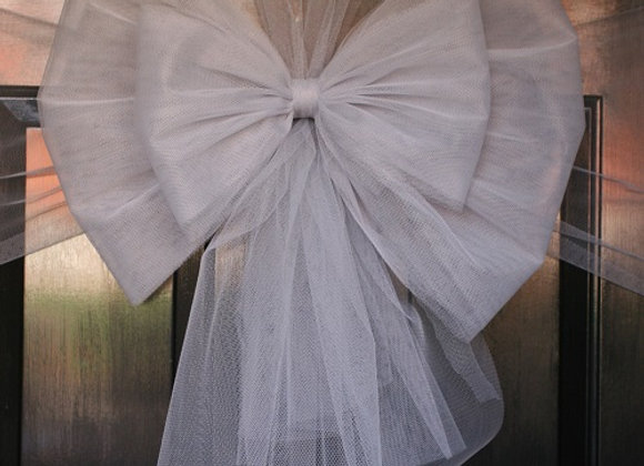 Christmas Door Bow, Silver Bow, Dress your door in style this festive season - UK, Essex, Kent London