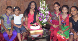 Dipanwita's birthday with students