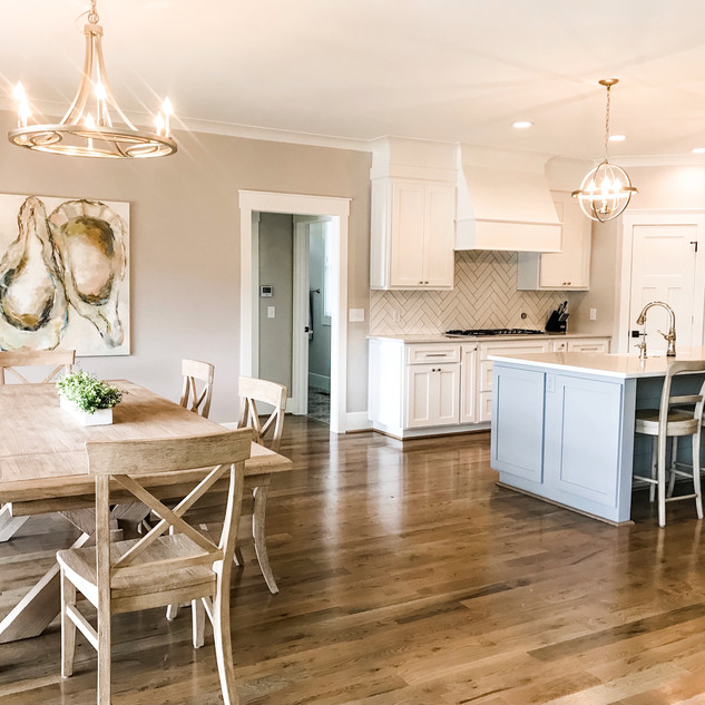 Oyster painting and kitchen design by MPH for Gallup and LaFitte