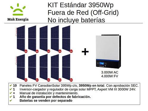 KIT FV ESTANDAR 3950Wp 3000W (Baterías no incluidas)