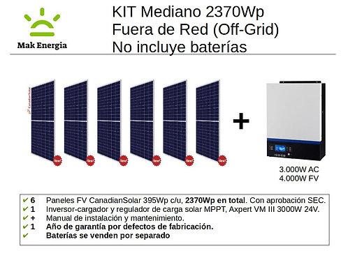 KIT FV MEDIANO 2370Wp 3000W (Baterías no incluidas)