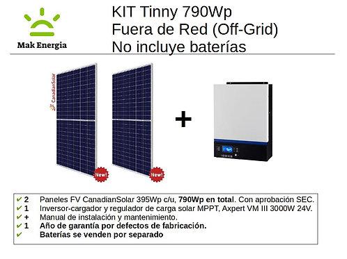 KIT FV TINNY 790Wp 3000W (Baterías no incluidas)