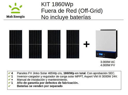 KIT FV BÁSICO 1860Wp 3000W (Baterías no incluidas)