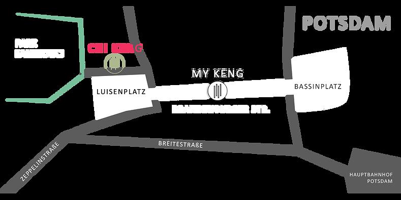 Anfahrtskarte Chi Keng Potsdam