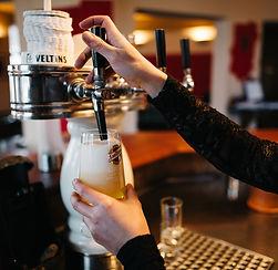 Original spanisches Bier St miguele wird im Mea Culpa angeboten