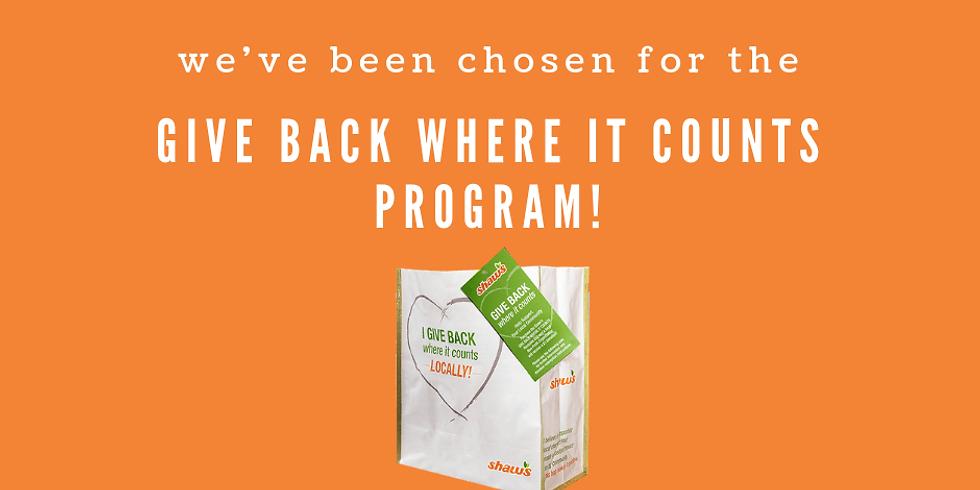 Give Back Where It Counts Bag Program