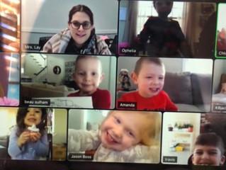 A week of virtual learning in Pre-K 1