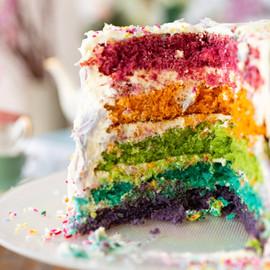 Delicious rainbow layer cake