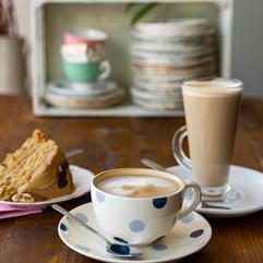 latte flat white coffee cake