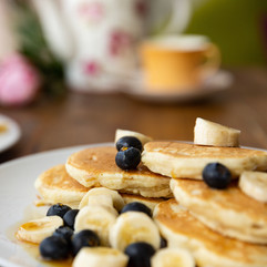 blueberry and banana panckes