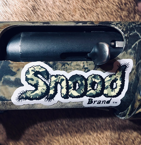 "Snood Brand 3x1.5  ""SNOOD"" gun sticker"