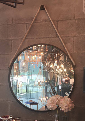 Espejo circular marinero