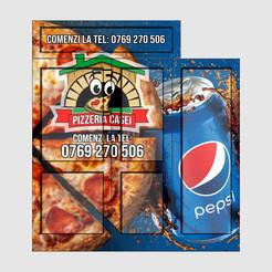 Pizza place facade wrap
