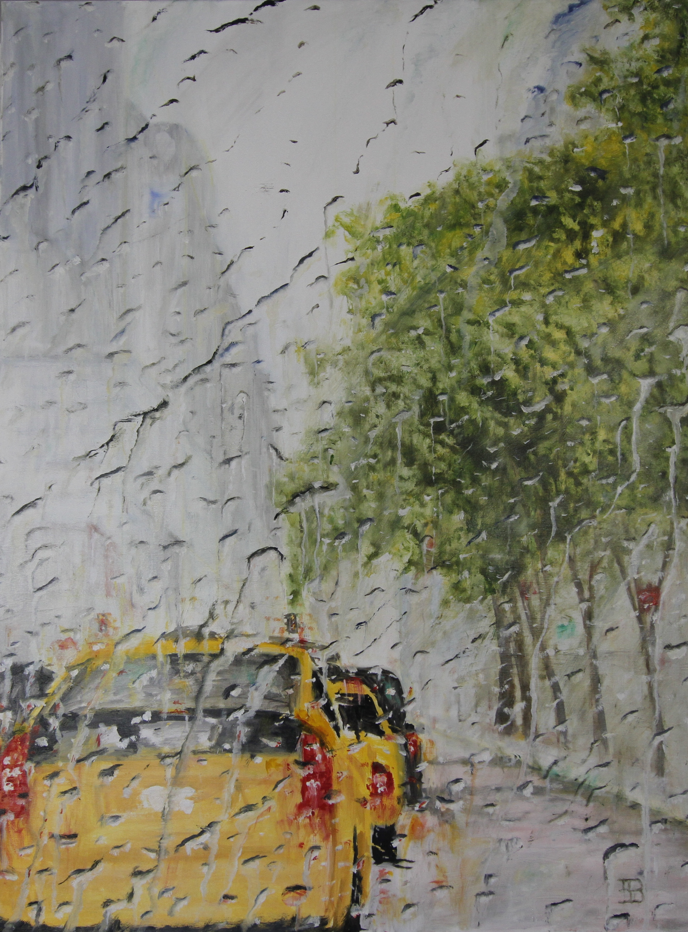 Spring Rain in New York City
