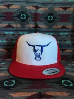Red Hat, White Face, Blue West River Bull